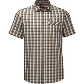Jack Wolfskin Napo River Koszula z krótkim rękawem Mężczyźni, sand dune checks